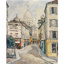 EMILE SAUDEMONT (1898 - ?)  RUELLE À MONTMARTRE