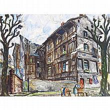PIERRE LE TRIVIDIC (1898-1960)  LE VILLAGE