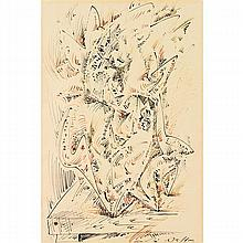 ANDRÉ MASSON (1896-1987)  LE COQUILLAGE INSOLITE, 1960
