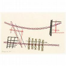 JEAN LEPPIEN (1910-1991)  COMPOSITION, 1955