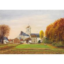 ƒ Jean Eve (1900-1968) L'église de Montjavoult
