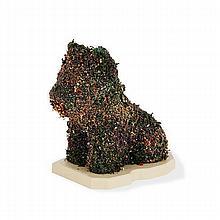 D'APRÈS JEFF KOONS (NÉ EN 1955)     PUPPY (HECHO A MANO), 1992   Fleurs séchées, résine et plastique   Édition illimitée, TAMC...