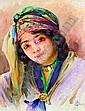 Alphonse Birck (1859-1942) Jeune orientale au foulard Aquarelle, signée en bas à droite. 32,5 x 25 cm, Alphonse Birck, Click for value