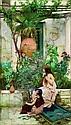 ƒ John-William Waterhouse (1849-1917) École anglaise Jeunes filles sur une terrasse à capri Huile sur toile, signée en bas à gauche. 85, John William Waterhouse, Click for value