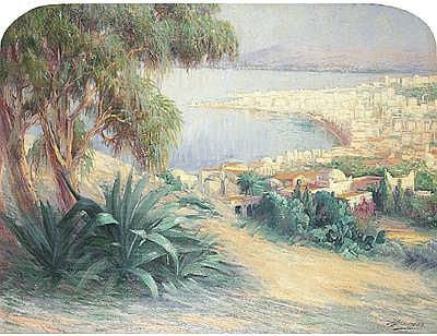 Julien Stappers (1875-1960) Ecole belge - La baie dAlger