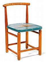 Hein STOLLE (1897-1966) A wooden chair, circa 1950. Height. 23 in. - Width. 14 1-8 in. - Depth. 14 1-8 in.RRGoed Wonen, 1957,p.100.
