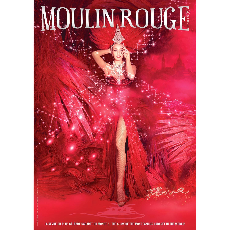 """Une soirée VIP pour la revue """"Féérie"""" du Moulin Rouge (2 personnes Diner-spectacle avec champagne Le cabaret parisien Le Mou..."""