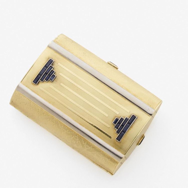 ann es 1930 bo te de beaut ea gold beauty box circa 1930. Black Bedroom Furniture Sets. Home Design Ideas