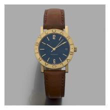 BULGARI BULGARI BULGARI A gold self winding wristwatch by Bulgari.