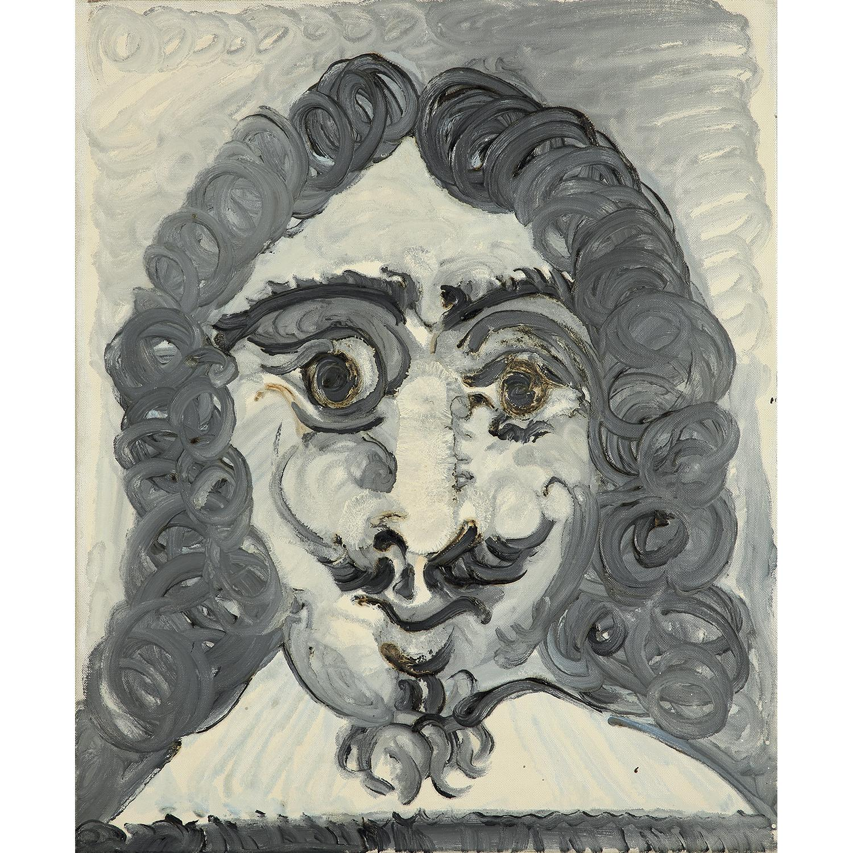 ¤ PABLO PICASSO (1881-1973) TÊTE D'HOMME OU TÊTE DE MOUSQUETAIRE, 1967