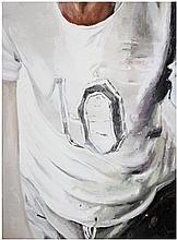 Mireile Blanc (née en 1985) T-Shirt, 2013 Oil on canvas, tilted, signed and dated on the reverse 235/8 x 173/4 in.