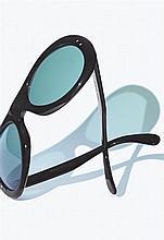 MAISON BONNET A pair of handmade buffalo horn sunglasses
