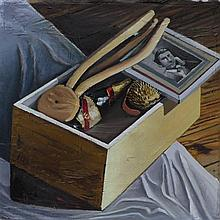 Mathieu Cherkit (né en 1982) Full Box, 2013 Oil on canvas, signed, titled and dated on the reverse 283/8 x 361/4 in.