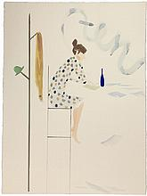 Sanya Kantarovsky (né en 1982) Untitled (10), 2013 Watercolor on paper, signed, titled and dated on the reverse 301/8 x 221/2 in.