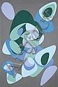 Victor Vasarely (1906-1997)  Kerrek, 1945(NE)-1985 Acrylique sur carton marouflé sur panneau Signée en bas à droite Numérotée 3347, ...