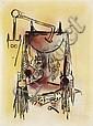 Wifredo Lam (1902-1982)  Sans titre, 1973 Pastel et fusain sur papier Signé et daté en bas à droite 63 x 48 cm - 24 3/4 x 18 7/8 in
