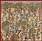 Antonio SEGUI (né en 1934)  Paseanderos, 2007 Technique mixte sur toile Titrée, signée et datée au dos 100 x 100 cm - 39 3/8 x 39 3/...