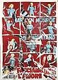 Mimmo ROTELLA (1918-2006)  Marilyn Multiple, 2004 Décollage d'affiches sur toile Signé en bas vers la droite Titré et daté au dos 19...