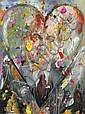 Jim DINE (né en 1935)  Herman, 2008 Huile, acrylique, sable et fusain sur panneau Signée, datée et titrée au dos 61 x 44,5 cm - 24 x...