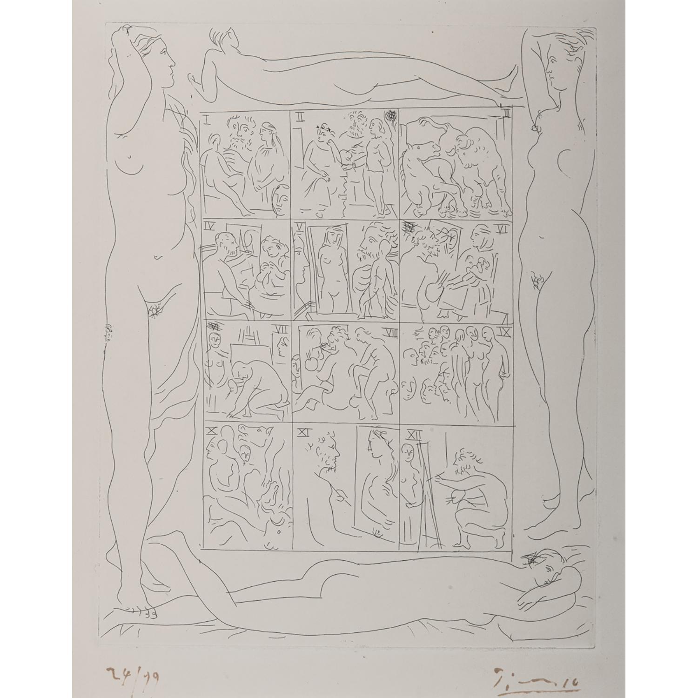 PABLO PICASSO (1881-1973) LE CHEF-D'OEUVRE INCONNU de Balzac : Table des eaux-fortes