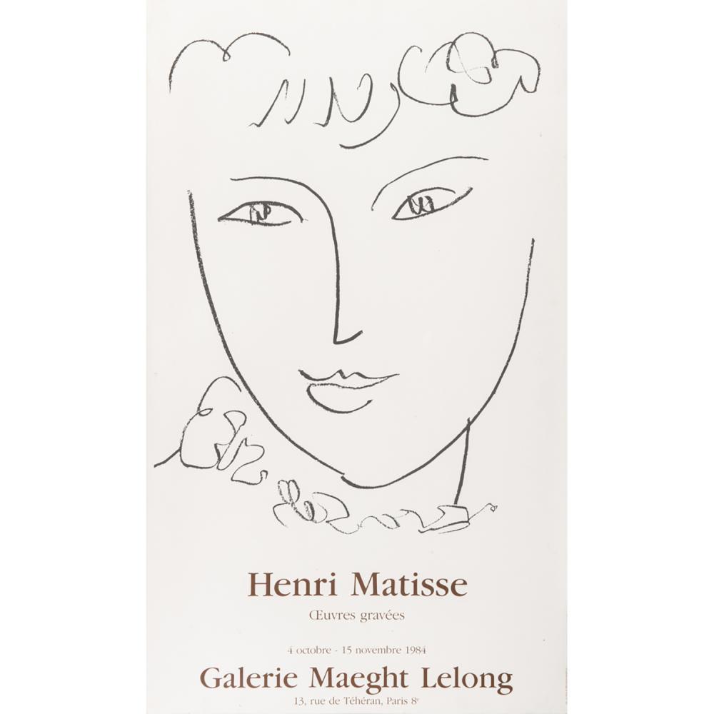 [AFFICHE]. - HENRI MATISSE HENRI MATISSE - OEUVRE GRAVÉES - GALERIE MAEGHT LELONG