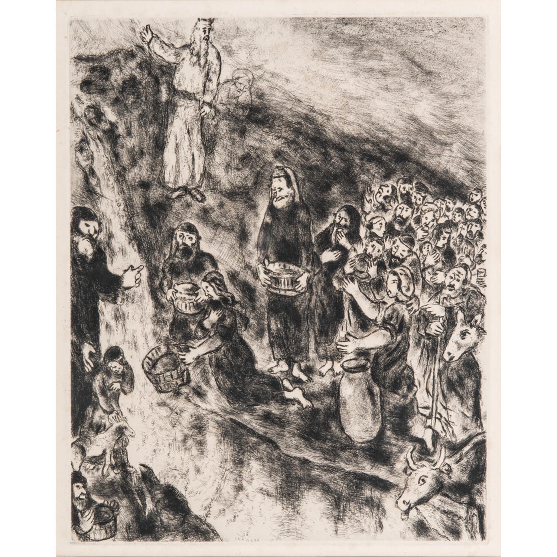 MARC CHAGALL (1887-1985) LE FRAPPEMENT DU ROCHER, 1958