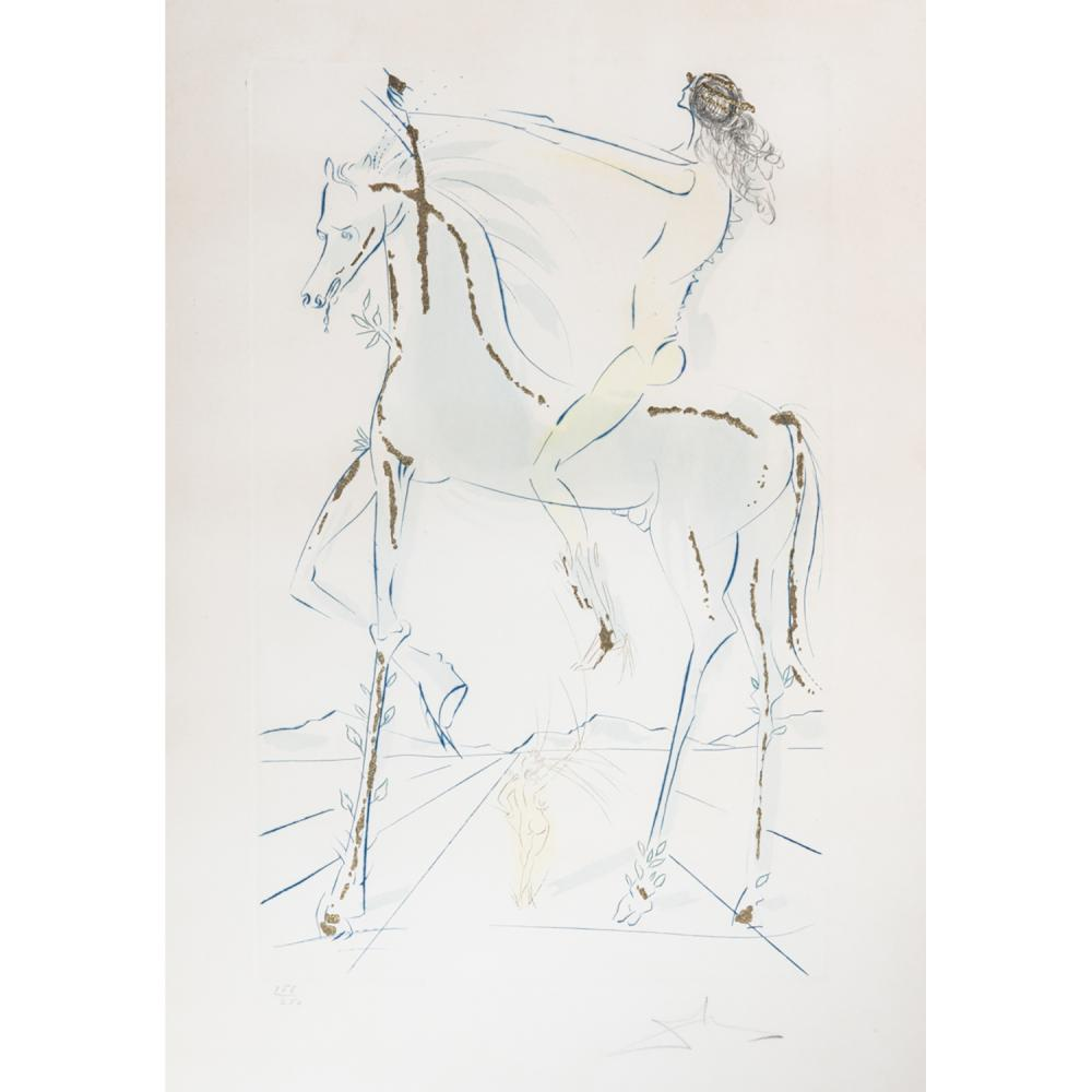 SALVADOR DALÍ (1904-1989) THE BELOVED IS A FAIR AS A COMPANY OF HORSES, 1971