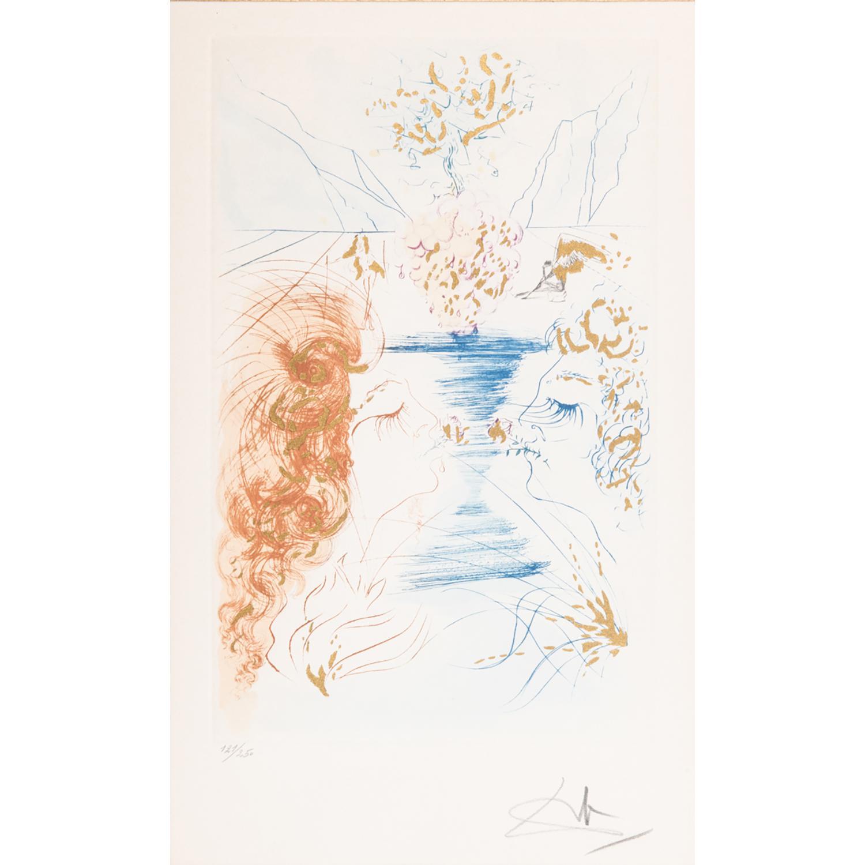 SALVADOR DALÍ (1904-1989) LE BAISER, 1971 Planche du Cantique des Cantiques