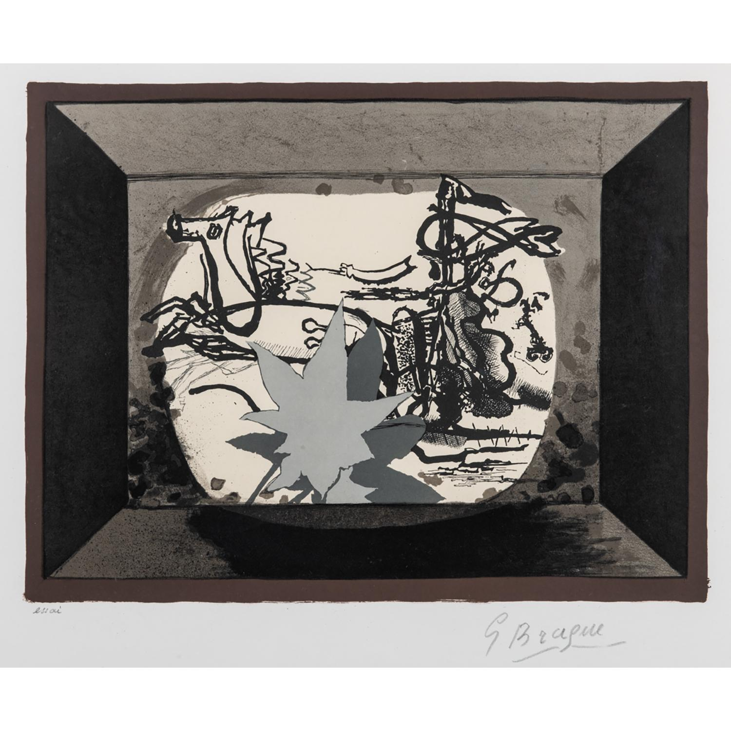 GEORGES BRAQUE (1882-1963) LE CHAR III, 1955