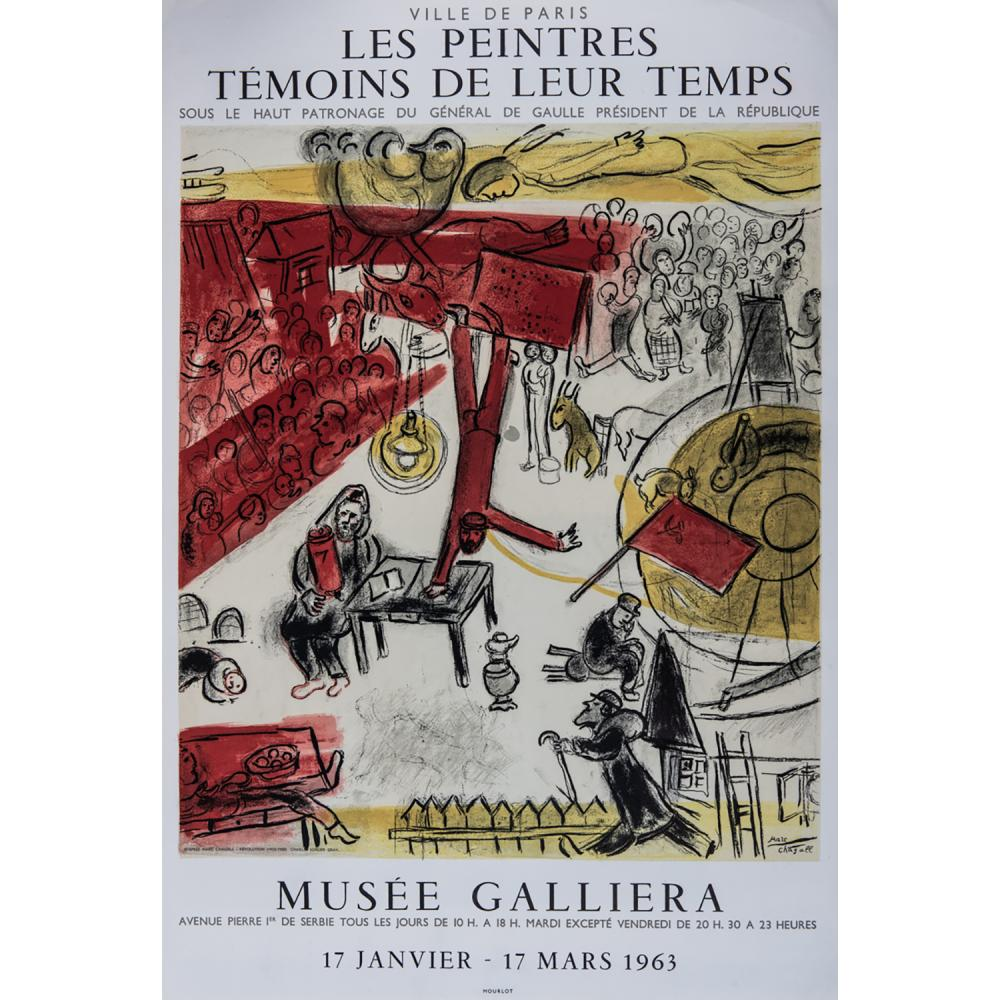 [AFFICHE]. - MARC CHAGALL LES PEINTRES TÉMOINS DE LEUR TEMPS, 1963