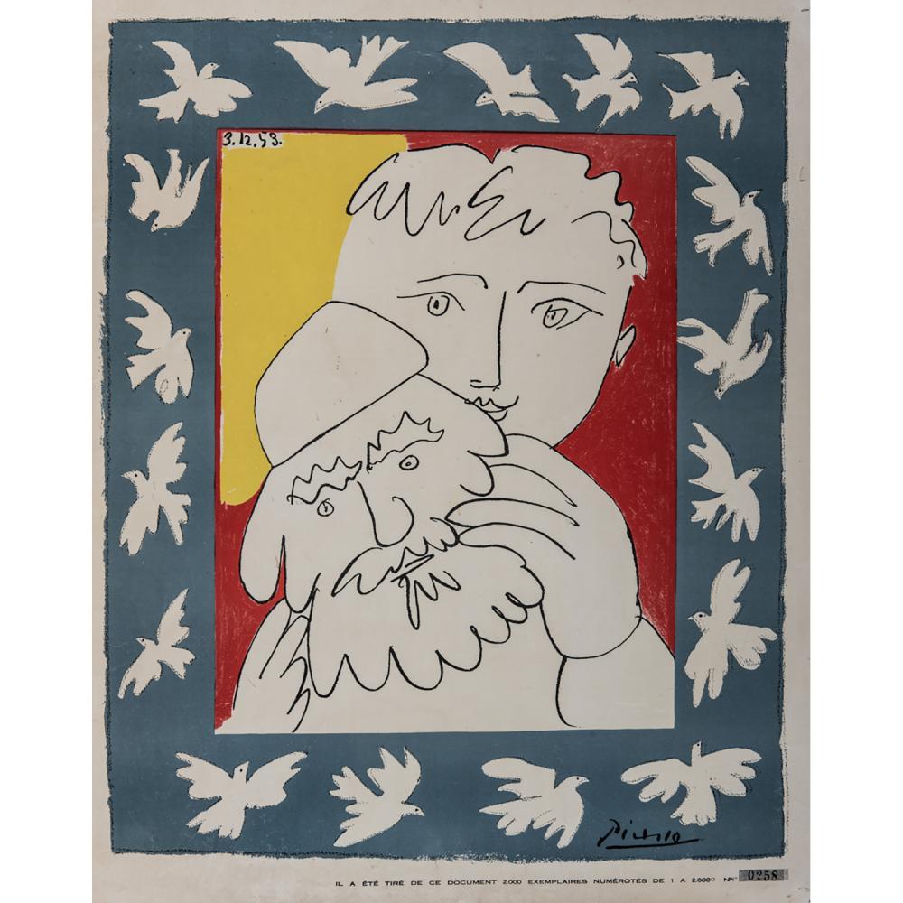PABLO PICASSO (D'APRÈS) L'HUMANITÉ, 3.12.1963