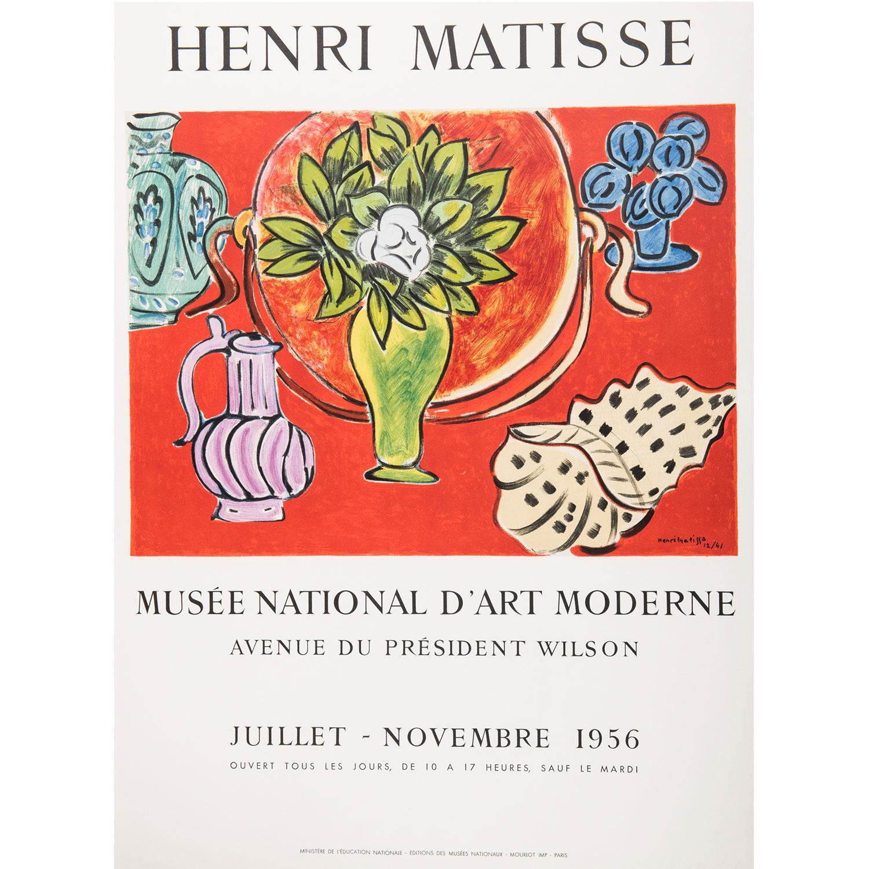 [AFFICHE]. - HENRI MATISSE (D'APRÈS) AFFICHE pour le Musée national d'art moderne Juillet à Novembre 1956