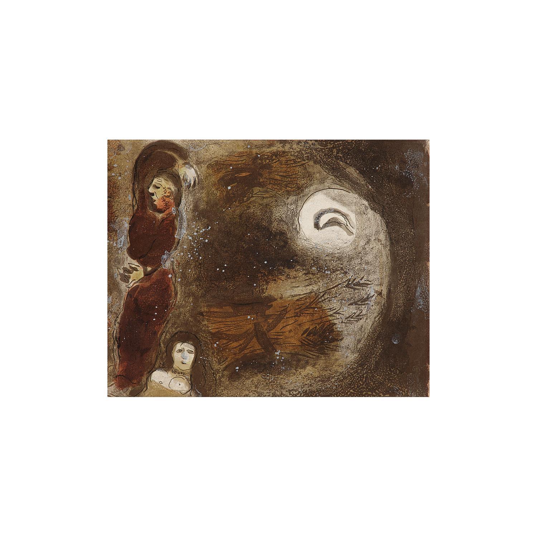 MARC CHAGALL (1887-1985) RUTH AUX PIEDS DE BOOZ