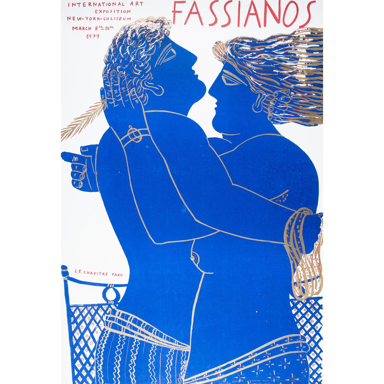 [AFFICHE]. - ALEXANDRE FASSIANOS (Né en 1935) LE CHAPITRE PARIS