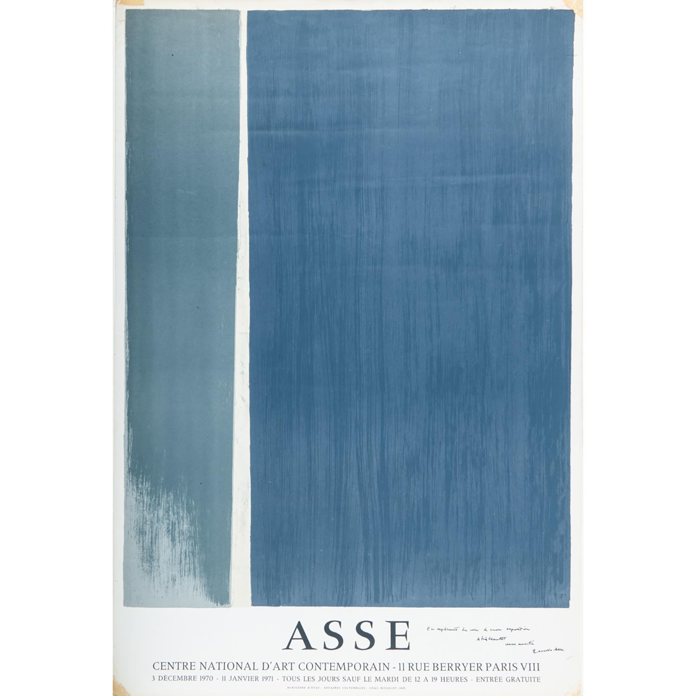 [AFFICHE]. - GENEVIÈVE ASSE (Née en 1923) AFFICHE DU CENTRE NATIONAL D'ART CONTEMPORAIN Affiche sérigraphiée par MourlotSignée et dé...