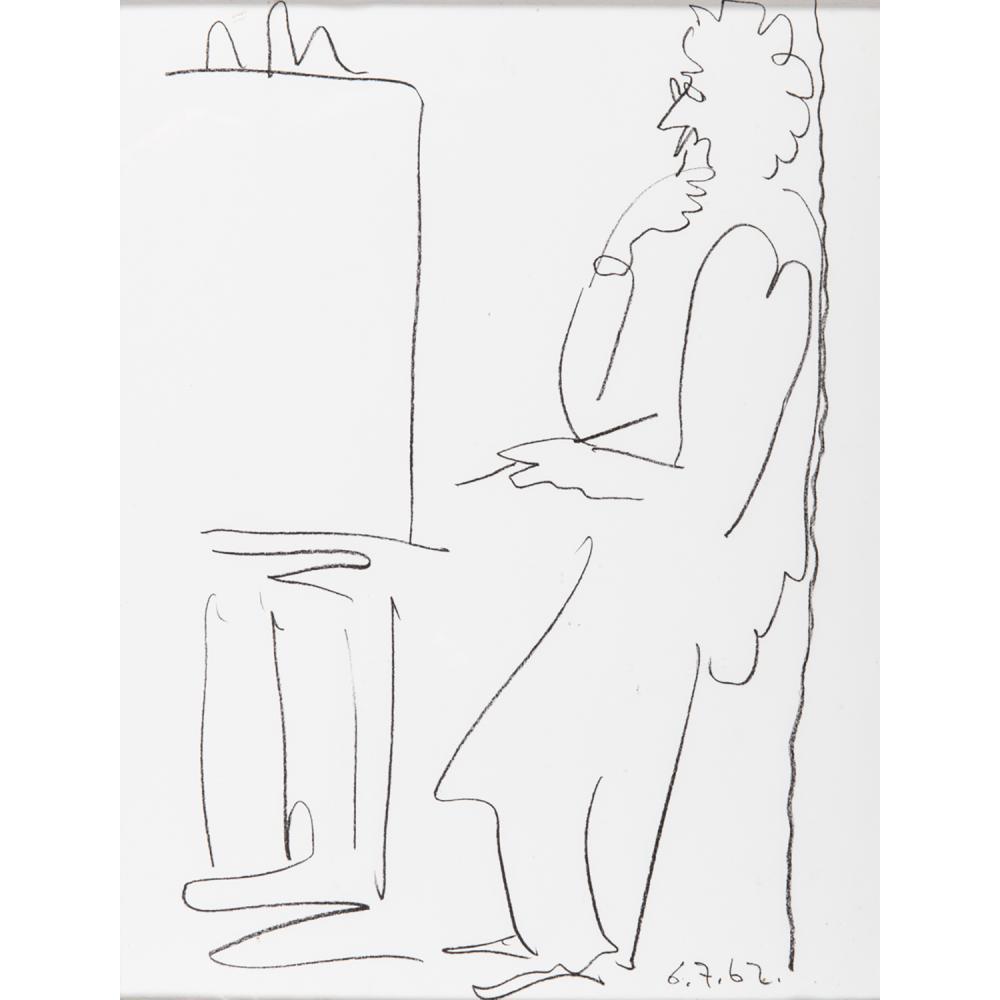 PABLO PICASSO (1881-1973) LE PEINTRE ET SON MODÈLE, 6.7.62