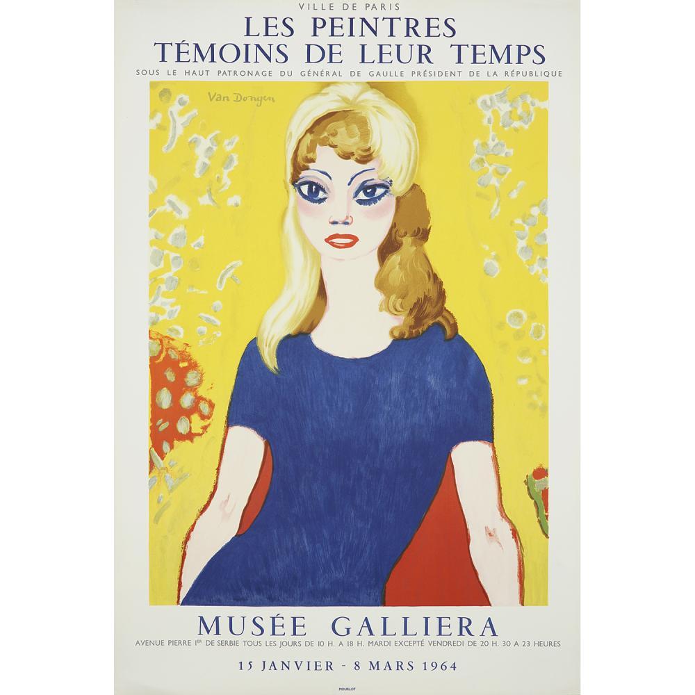 """[AFFICHE]. - KEES VAN DONGEN (1877-1968) BRIGITTE BARDOT, AFFICHE POUR LE MUSEE GALLIERA """"LES PEINTRES TEMOINS DE LEURS TEMPS"""", 1964"""