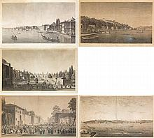 ANTOINE IGNACE MELLING (1763-1831) Suite de cinq planches gravées à l'eau-forte