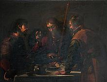 ATTRIBUE A JACOPO CHIMENTI DIT JACOPO DA EMPOLI (1551 - 1640) LE REPAS À EMMAÜS