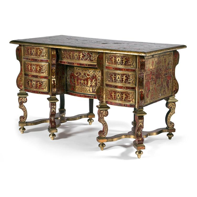 beau bureau mazarin d 39 poque louis xiv attribu nicolas sa. Black Bedroom Furniture Sets. Home Design Ideas