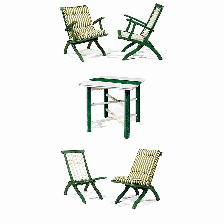 PIERRE DARIEL DITEUR A Folding Garden Furniture Green An