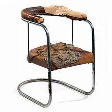 Wassily (1889-1972) et Anton (1890-1954) LUCKARDT & STAHLMÖBEL (Éditeur) A tubular chrome plated steel framed SS33 desk armchair varian