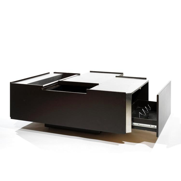 Ann es 70 table basse bar structure pans coup s parement - Table basse bar wenge ...