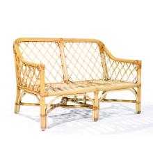Suzanne GUIGUICHON (1900-1985) Living room furniture made of wicker, including a two-seater sofa and two armchairs