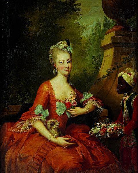 Johann-Heinrich Tischbein (1722-1789) Portrait de Philippine Landgraeffin zu Hessen