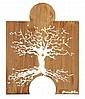KOUKA (né en 1981) L'arbre de vie, 2012 Acrylique sur bois Signé en bas à droite Contresigné, titré et daté au dos 50 x 39,5 cm