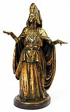 PIERRE-MARIE POISSON (1876-1953) DANSEUSE OULED-NAIL OULED-NAIL DANCER Épreuve en bronze à la cire perdue dorée à l'or fin et patiné...