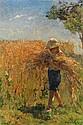 Marie Aimée Lucas-Robiquet (1858-1959) Le glaneur Huile sur toile Signée en bas à droite 55 x 38cm