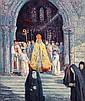 MAXIMILIEN LUCE (1858-1941) L'ÉVÊQUE SORTANT DE L'ÉGLISE