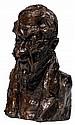 Honoré Daumier (1808-1879) Le comte de Falloux, un malin (Angers, 1811-1886), ministre Épreuve en bronze à patine brune Fonte Barbed...